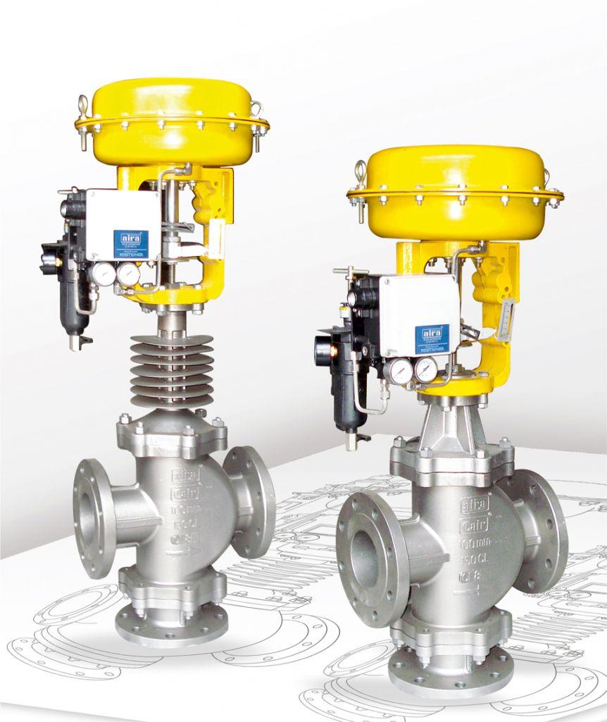 pneumatic diaphragm operated 2 way control valve