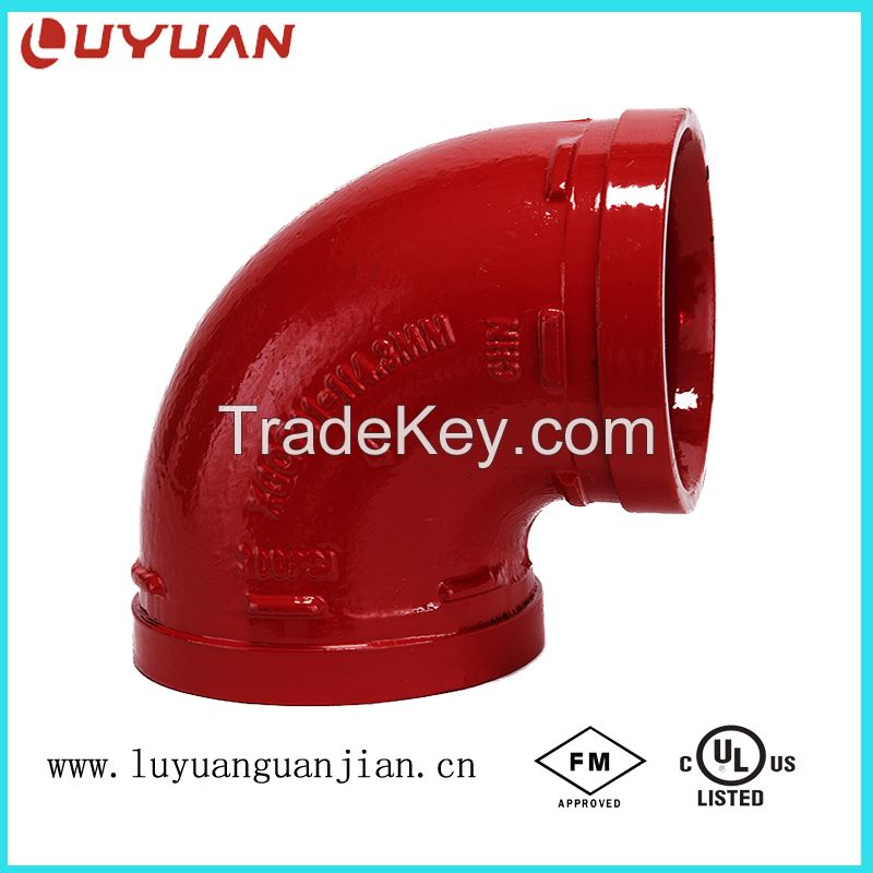 FM /UL/ CE Grooved Pipe Coupling for Fire Fighting Sprinkler System