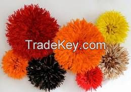 Feathered Juju Hats for Home Decor