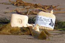 Natural Seaweed Soap Wrapped in Sisal Fiber