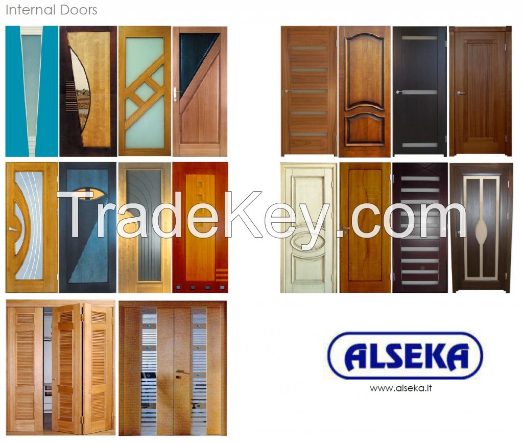 Interior wooden doors
