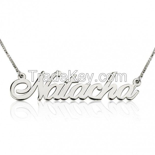 Silver Alegro Name Necklace