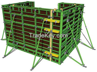 Framed Formwork For Installed Without The Use Or A Crane
