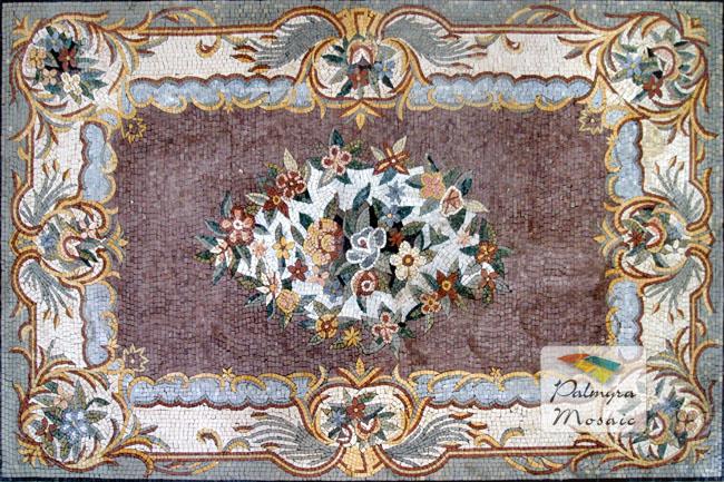 CR014 Handmade Micro Marble Mosaic Flooring tile Carpet