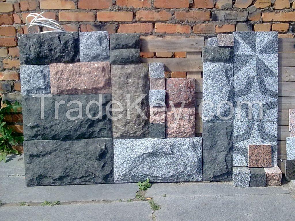Granite pavers, slabs, curbs
