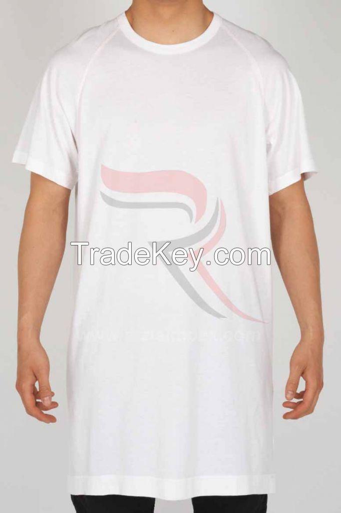 High quality cheap plain elongated t shirt by razia impex for Plain quality t shirts