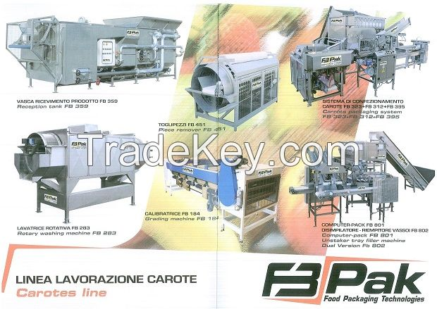 Machines for the processing of fruit and vegetables