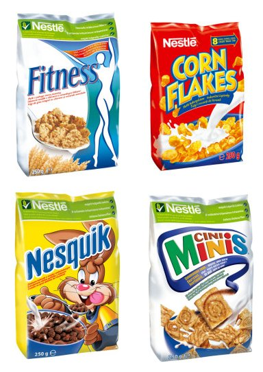 Nestle Cornflakes, Cini Minis, Nesquik & Others