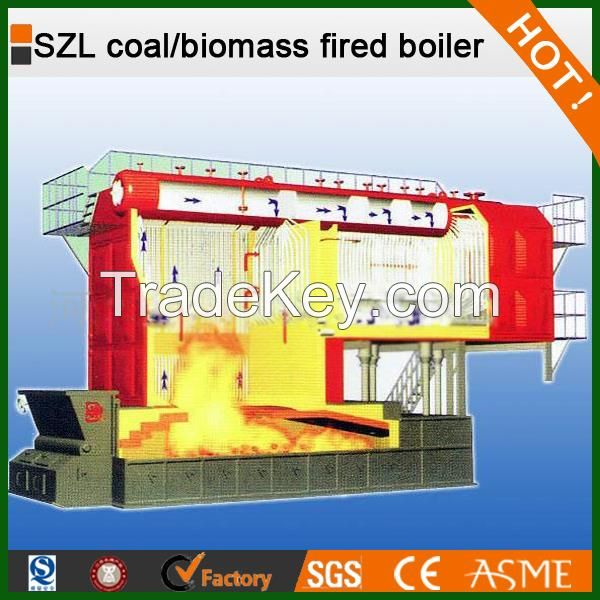 double drums nutshell water boiler used for plywood factory