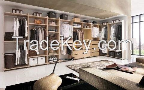 Bedroom Corner Melamine Closet System Wardrobe