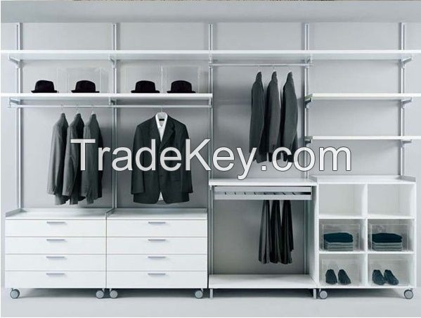 Walk In Aluminum Pole System Wardrobe