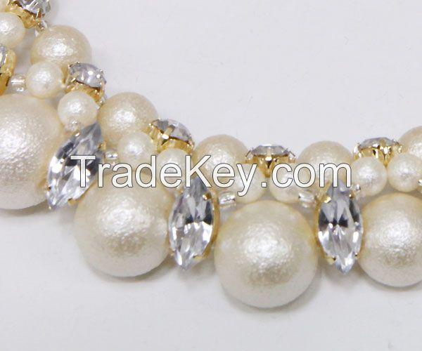 fashion jewelry handmade cotton pearl