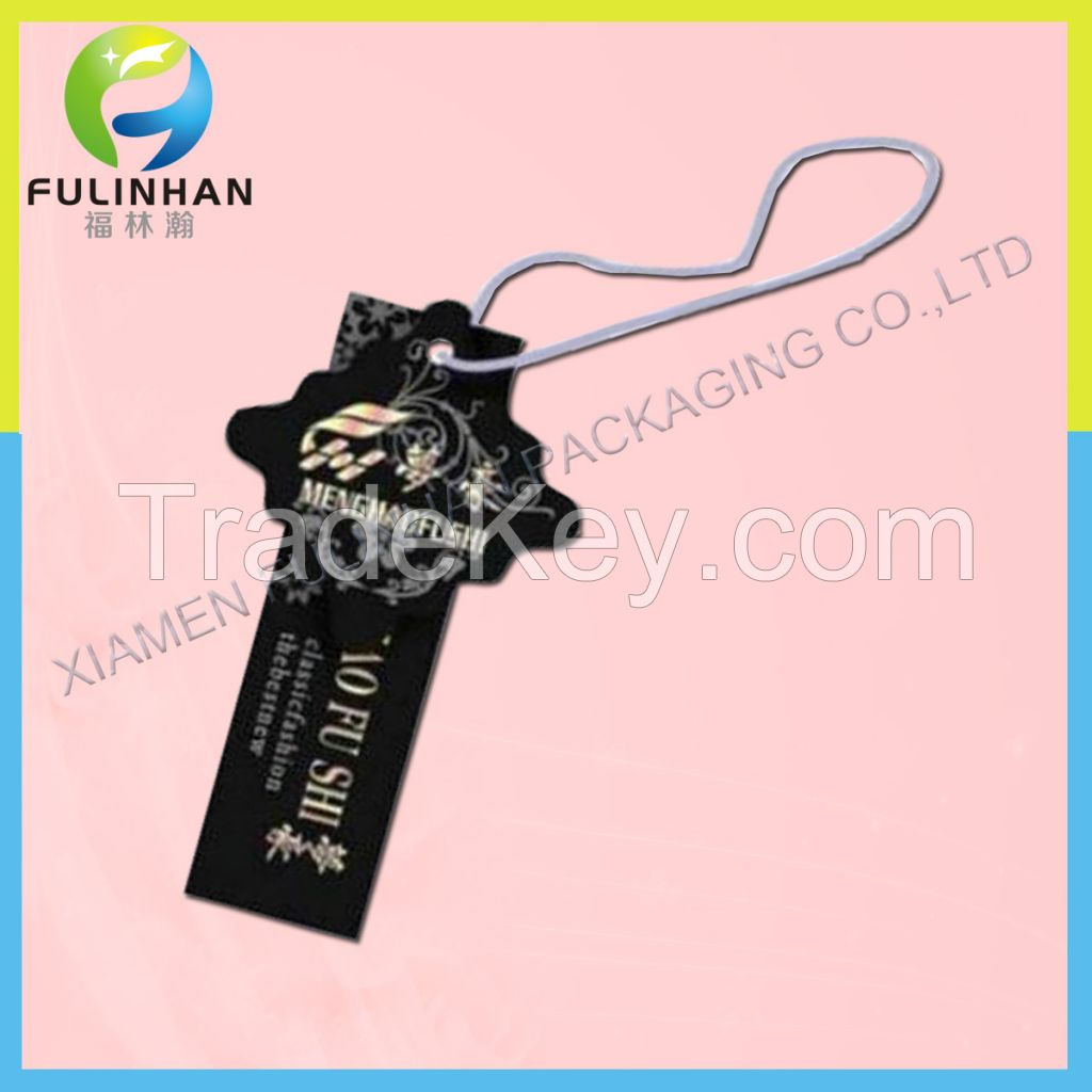 Paper hang tag for clothing, apprael tags, garment hang tag