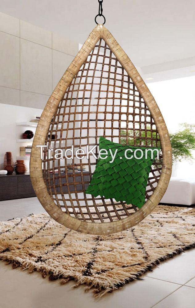 Buy Pakistani Hanging Cane Handmade Wicker Chair Swing