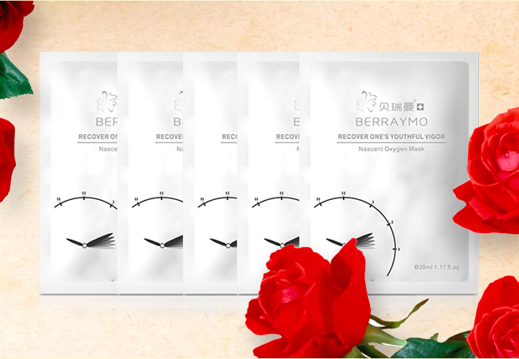 Berraymo- 24k skin care beauty whitening facial mask face care cleaning moisturizer anti wrinkle hyaluronic acid black head acne remove