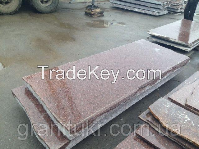 Granite of Rosso Carpazi (red) from Ukraine
