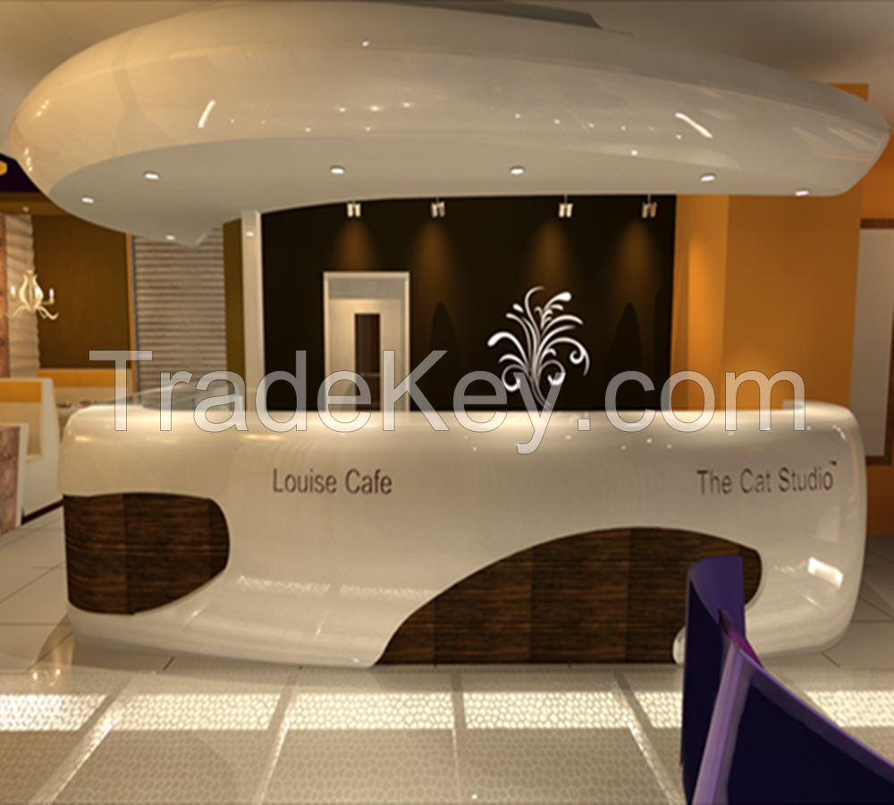 Uncategorized reception counter design christassam home for Salon de luxe moderne