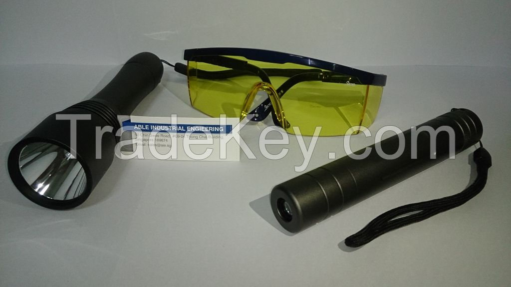 AIE Portable Lightweight UV LED Ultraviolet_Blue Light Torch 365, 385-Energy Saving_R&D Recomended_Inspection Recomended (Another quality product by ABLE Industrial Engineering)