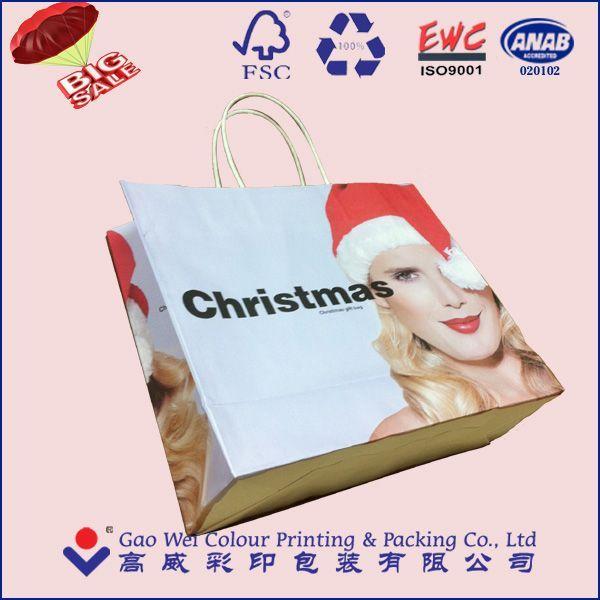 Eco-Friendly Custom Logo Printed Christmas Gift Paper Bags