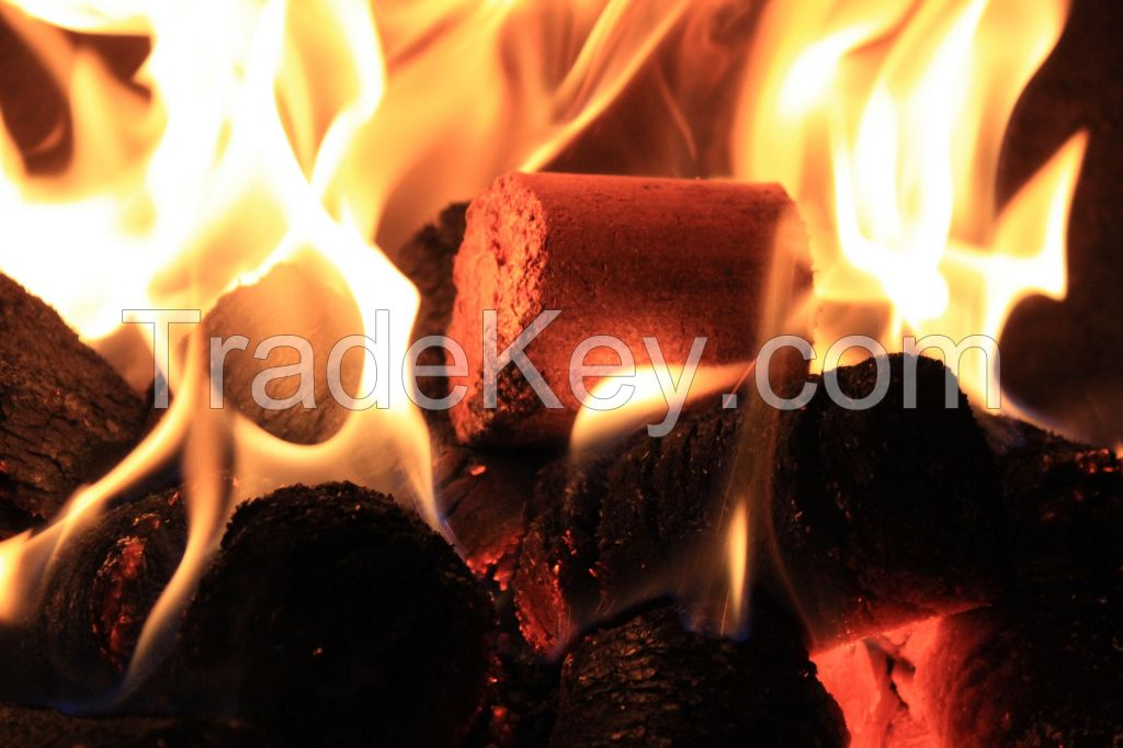 Wood briquettes DIN+ certified