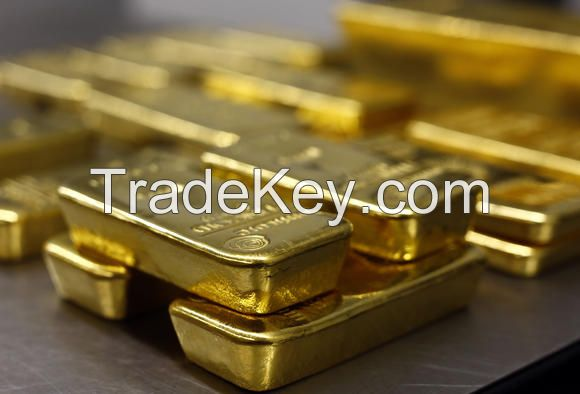 Gold bars, gold nuggets and Gold dust