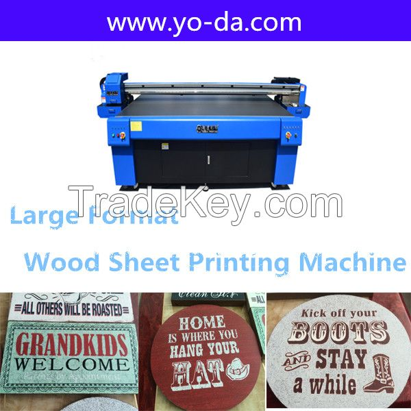 High resolution 1440dpi wood sheet uv flatbed printer machinery price