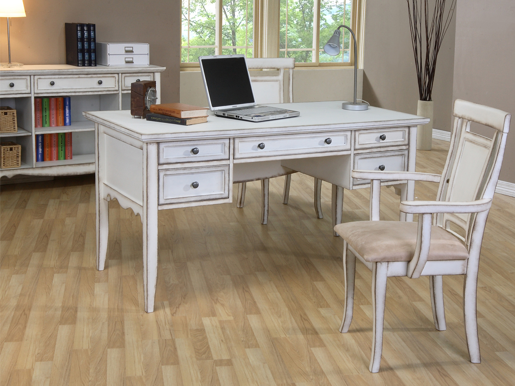 White classics writing desk by tonics furniture sdn bhd