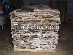 Salted dry cow skin, hides and donkey skin on sale