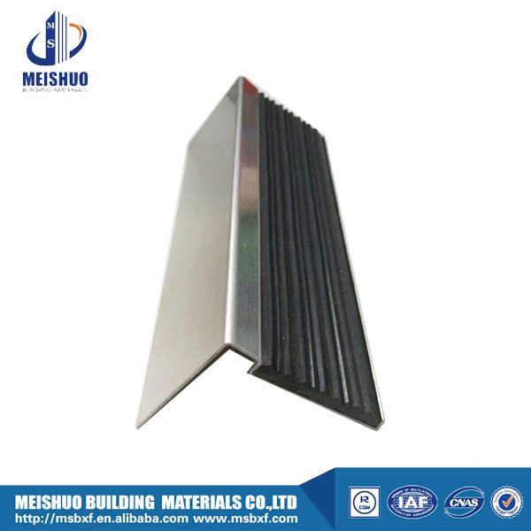 Stair Parts Rubber Insert Stainless Steel Stair Nosing