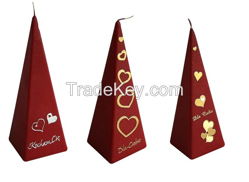Pyramide fragrance candle walentine's day love