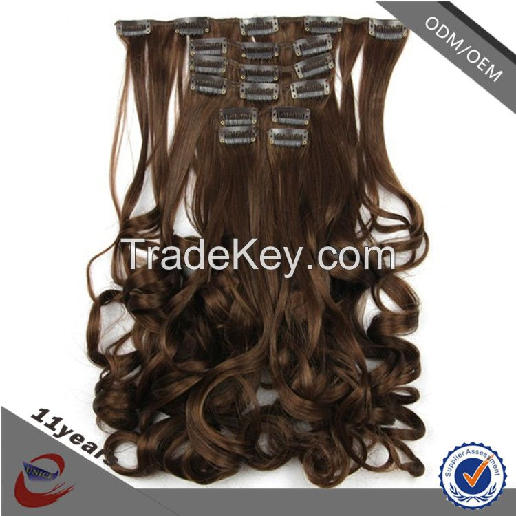 Best Selling Products One Piece Clip In Hair Extensions Free Sample