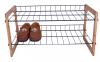 2 tier  bamboo shoe rack
