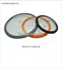 silicone rim with glas...