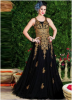 Black Net Embroidery D...