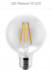 G25 LED Filament bulbs CRI 80 with UL 2700K 6500K 3.5W 110-130vac Patent chips from epistar