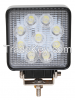 4.4 Inch Truck Offroad Amber 27W Auto LED Work Light 6000k SQLED Power