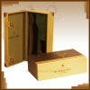 Leather MDF wine box -...