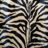 100% polyester zebra pattern printing velboa fabric item
