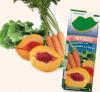 Peach, carrot and collard greens Juice fruit
