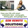 GSM remote control for automatic door opener