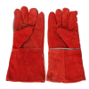 Red cow leather welding gloves