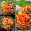Powerful Orange Handmade Soap Carved Flower