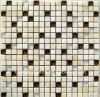 Mixed color glass mosaic tile