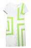 irregularity stripe splice dress