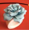 Ceramic Napkin Ring With Flower