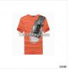 Trendy printed short sleeve T-shirt sublimation printing custom t shirt
