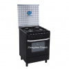 Black free standing gas range gas stove with oven