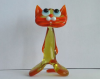 Hand-Blown Art Glass Standing Cat