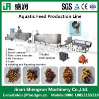 Floating aquatic fish feed pellet extruder machine