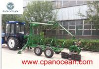 log trailer with hydraulic crane forestry machinery